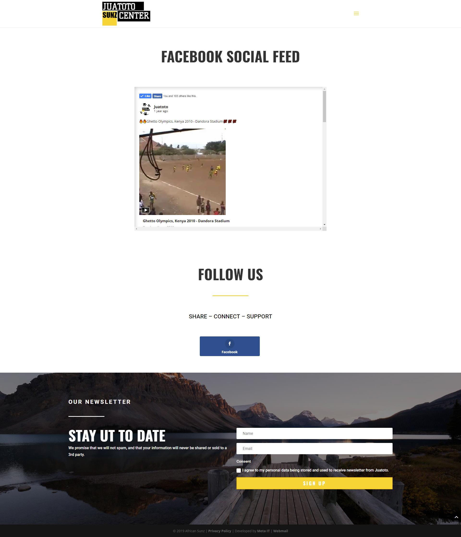 Juatoto Facebook feed og nyhetsbrev