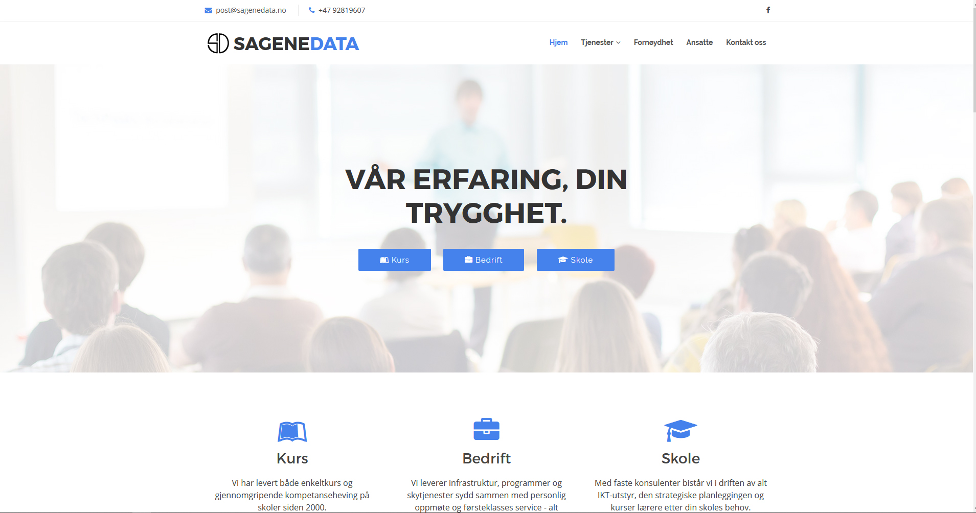 Sagene Data AS forside