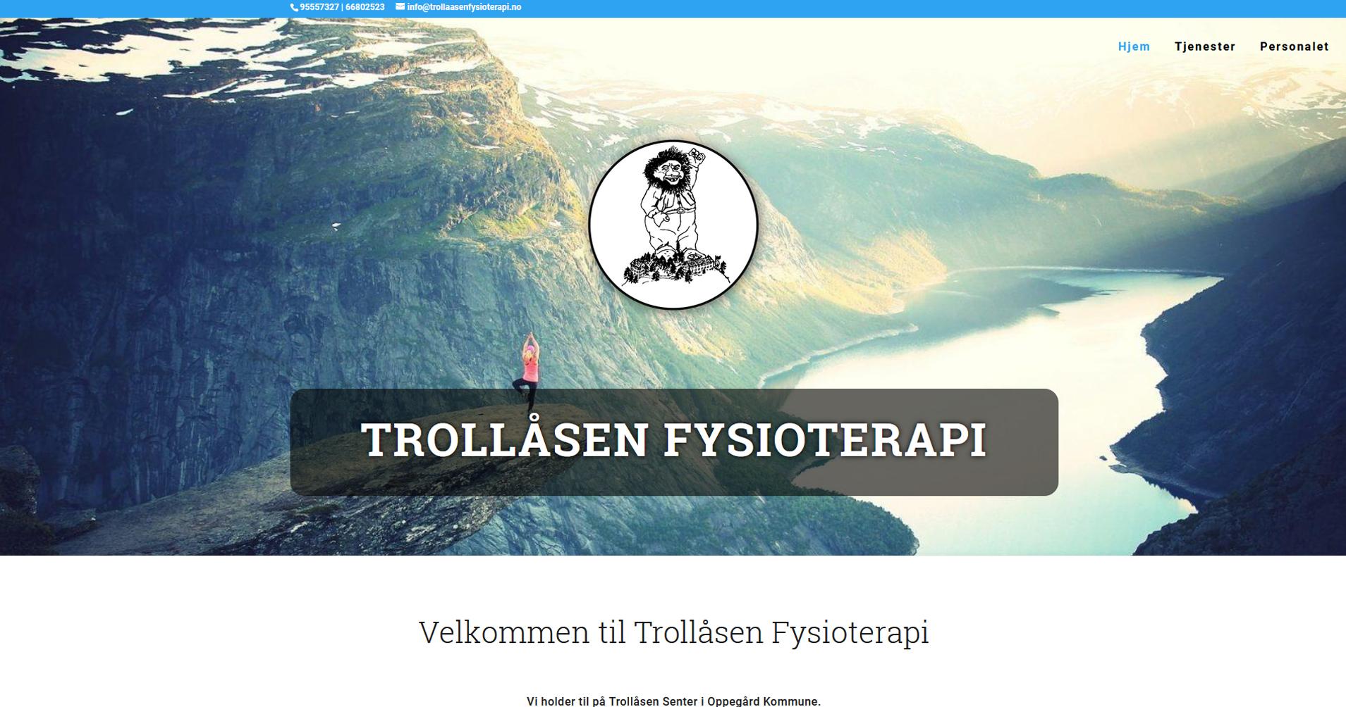 Trollåsen Fysioterapi - kunde hos metait.no